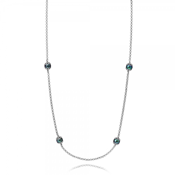 Emma-Kate Necklace – Silver, Peacock pearl image