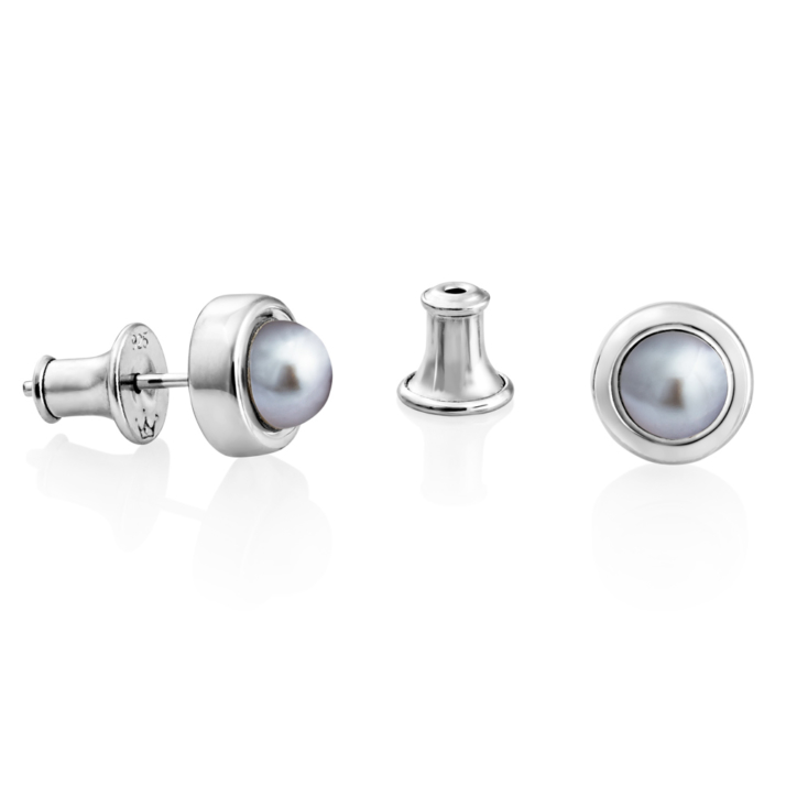 Alice Studs – Silver Grey pearl image