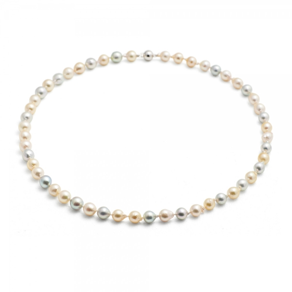 Mid-length, 7.0-8.0 natural colour Akoya pearl necklace image