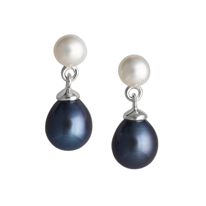 Dew Drop Pearl Earrings – Peacock pearl image