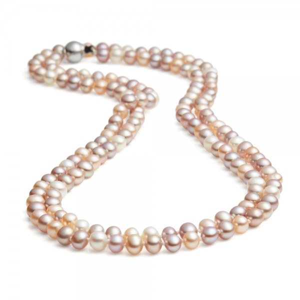 Long, 5.0-5.5mm Freshwater pearl necklace