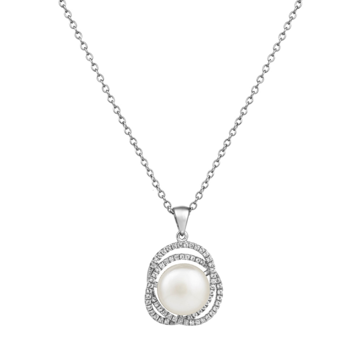 Marette Altair Pendant – Sterling Silver and White Topaz image