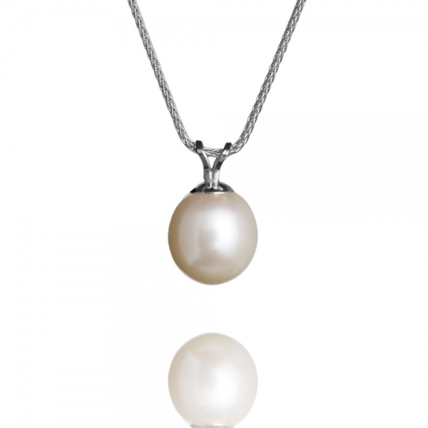 Pearl Pendant – White Gold, White Pearl image