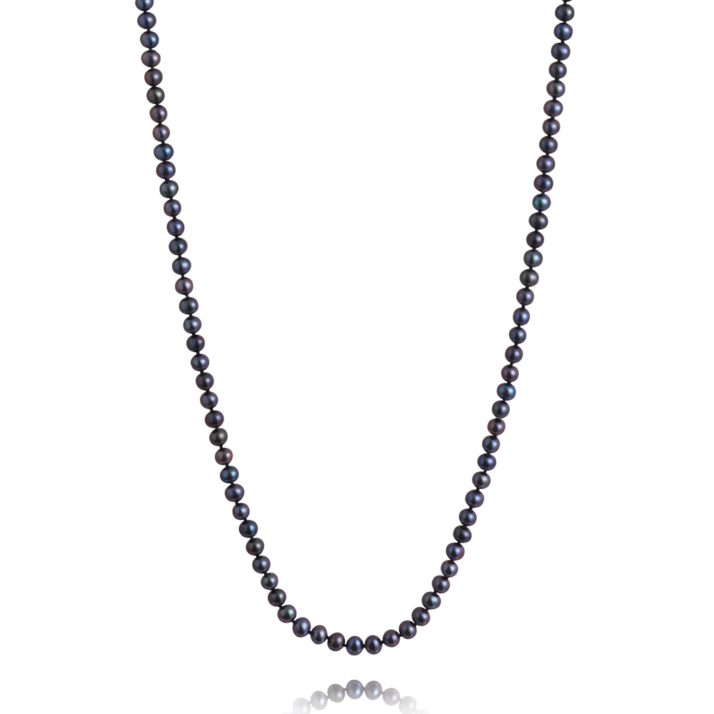 Long, 5.0-5.5mm Classic Freshwater Pearl Necklace - Peacock