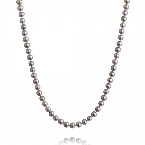 Long, 5.0-5.5mm Classic Freshwater Pearl Necklace zoom image
