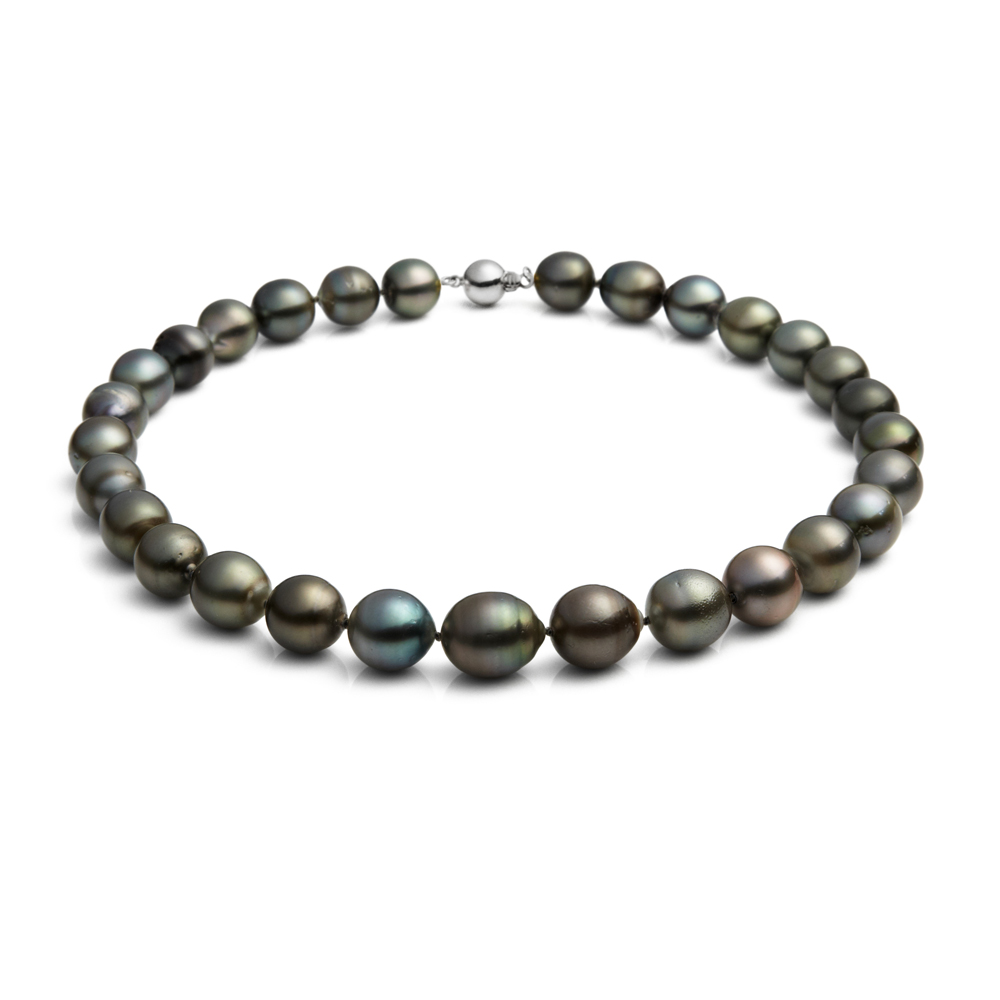 Mid-length, 12-14mm Tahitian Pearl Necklace