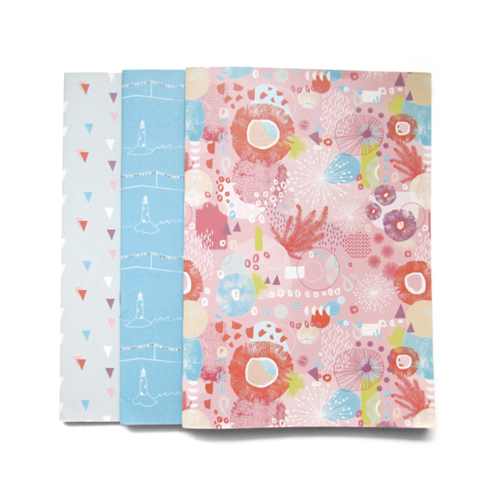 Trio of notepads