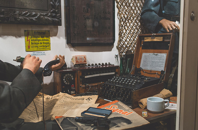 Channel Islands Military Museum Enigma machine image